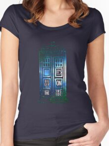 TARDIS - 'It's bigger on the inside' quote Women's Fitted Scoop T-Shirt
