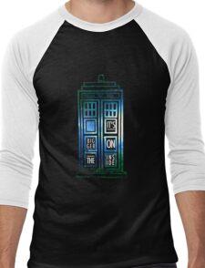 TARDIS - 'It's bigger on the inside' quote Men's Baseball ¾ T-Shirt