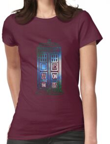 TARDIS - 'It's bigger on the inside' quote Womens Fitted T-Shirt