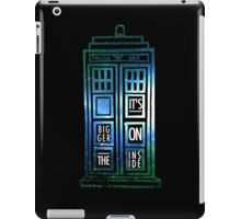TARDIS - 'It's bigger on the inside' quote iPad Case/Skin