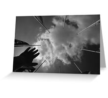 Reach Out and Touch the Sky Greeting Card