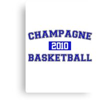 Champagne Basketball Athletic College Style 1 White Canvas Print