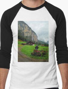 Home in the Swiss Alps Men's Baseball ¾ T-Shirt