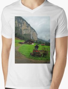 Home in the Swiss Alps Mens V-Neck T-Shirt