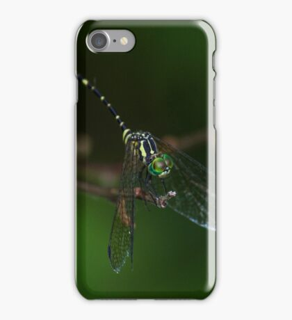 Neon Green Eye Liner (Dragonfly) iPhone Case/Skin