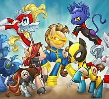 My Little Pony X-Men by kimballgray
