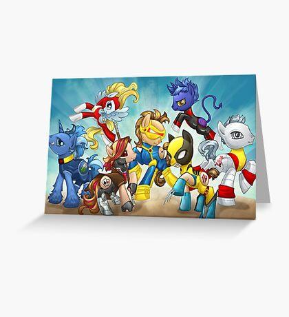 My Little Pony X-Men Greeting Card