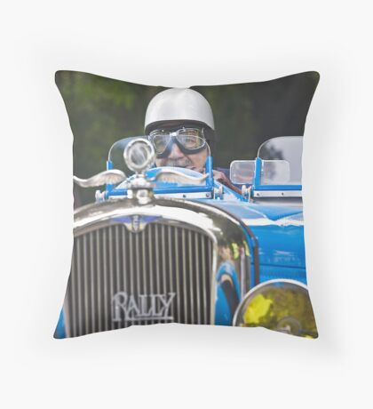 Rally on the road Throw Pillow