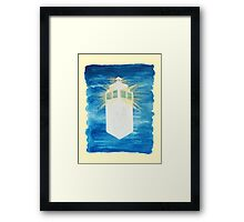 A Day in the Life of a TARDIS Framed Print