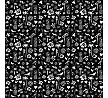 Black & White Hawaiian Pattern Photographic Print