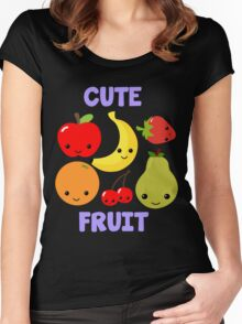 Cute Fruit Women's Fitted Scoop T-Shirt