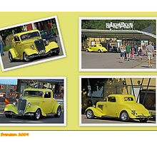 Yellow Ford Collage by Paola Svensson