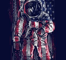 Astronaut Flag by c0y0te7