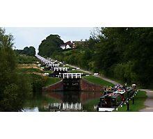 Caen Hill Locks, Devizes, Wiltshire, England Photographic Print