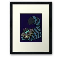 Disney and Burton's Cheshire Cat Framed Print