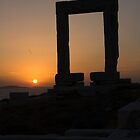 Temple of Apollo, Naxos Greece at sunset by InterfaceImages