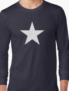 White Star Solid Long Sleeve T-Shirt