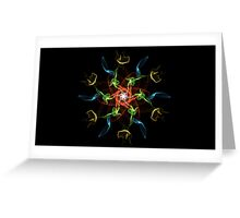 Abstract on Black Greeting Card