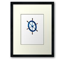 blue sailor wheel Framed Print