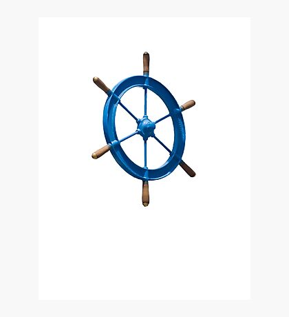 blue sailor wheel Photographic Print