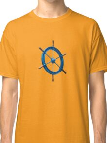 blue sailor wheel Classic T-Shirt