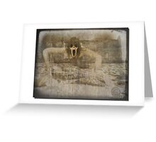 Ghost at the ruins Greeting Card