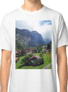 Quaint Swiss Alps town Classic T-Shirt