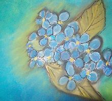 Hydrangea by paintbrush