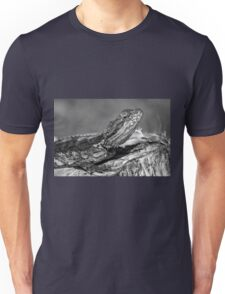 Black and White Baby Bearded Dragon Unisex T-Shirt