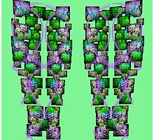 Leggings with Light Green background Photographic Print