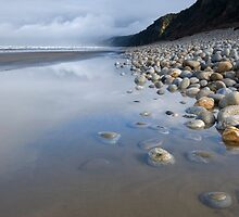 Blue Cliffs Beach. by Michael Treloar