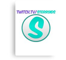 Sterroids twitch logo Canvas Print