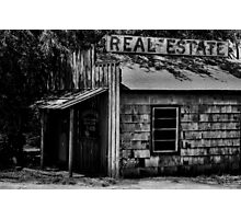 Real Estate Down Photographic Print