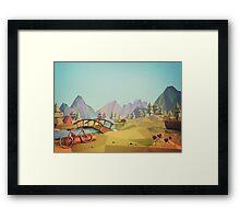 Geometric Enjoy Nature Framed Print