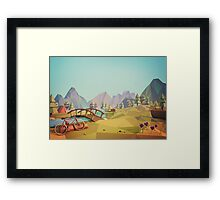Geometric Enjoy Nature Framed Print
