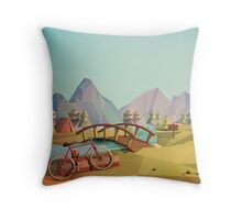 Geometric Enjoy Nature Throw Pillow