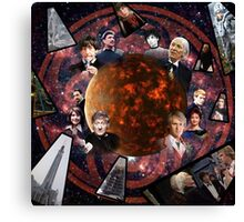 A Tribute to the Five Doctors Canvas Print