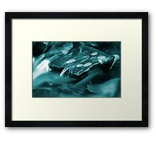 A puddle of blue oblivion Framed Print