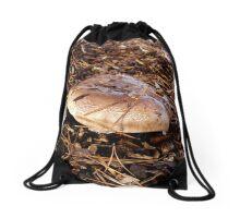Brown Mushroom Drawstring Bag