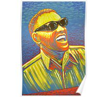 Ray Charles painting by James Cattlett Poster