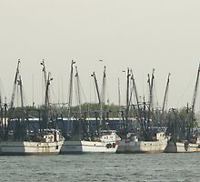 Shrimpers at Rest by Bob Hardy