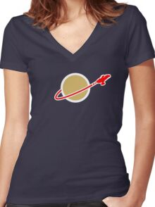 LEGO SPACE SERENITY (FIREFLY) Women's Fitted V-Neck T-Shirt