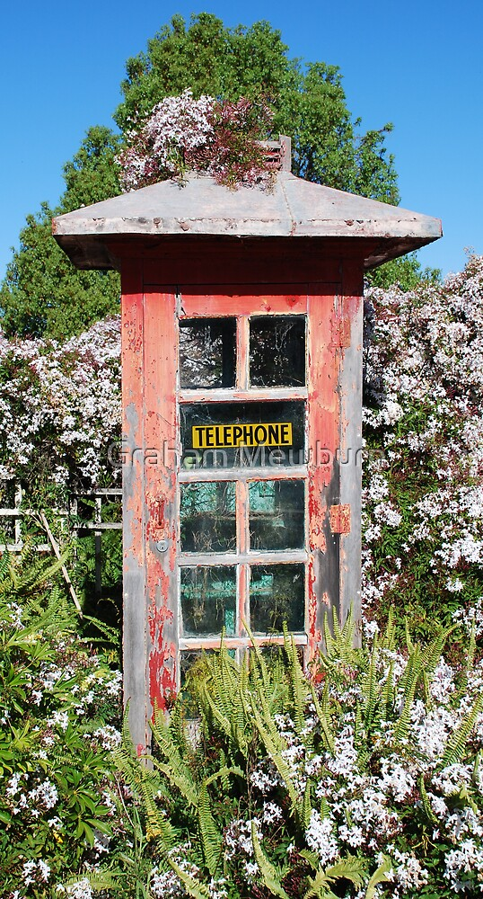 Phonebox with Jasmine.  Sugar? by Graham Mewburn