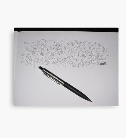 Jest Sketch Canvas Print