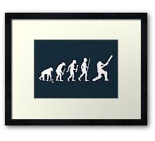 Evolution of Man and Cricket Framed Print