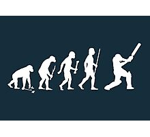 Evolution of Man and Cricket Photographic Print