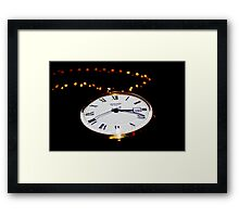 3:19 and 41 Seconds Framed Print
