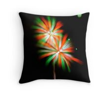 July 3 Fireworks Flower Throw Pillow
