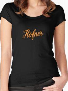 Vintage Hofner  Orange Women's Fitted Scoop T-Shirt
