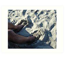 Sand Slippers Art Print